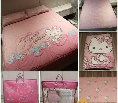 H&H X Hello Kitty 麥卡MICAX冰舒涼感被墊組︱寢具用品︱美食王國