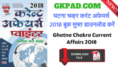 Ghatna Chakra Current Affairs 2018
