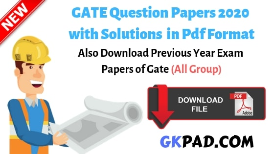 Gate Exam Question Papers Pdf