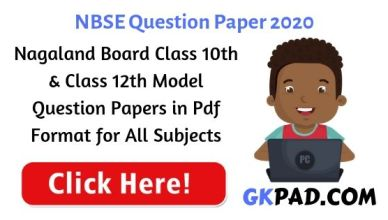 Nagaland Board Question Paper