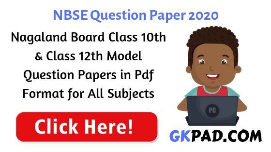 Nagaland Board Question Paper