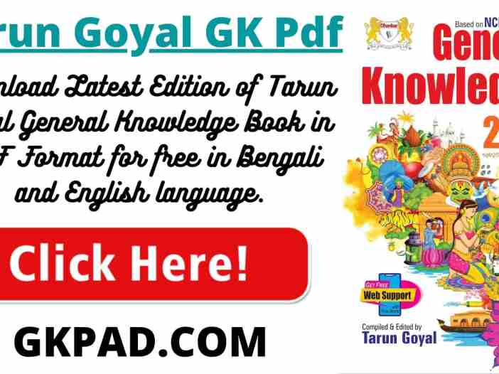 Tarun Goyal GK 2021 PDF