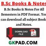 B.Sc Books & Notes