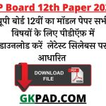 UP Board 12th Question Papers 2022