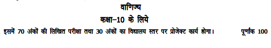 UP Board 10th Commerce Syllabus