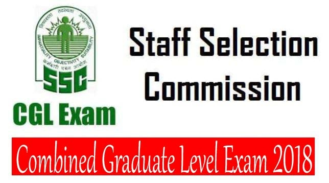 ssc cgl notification 2018