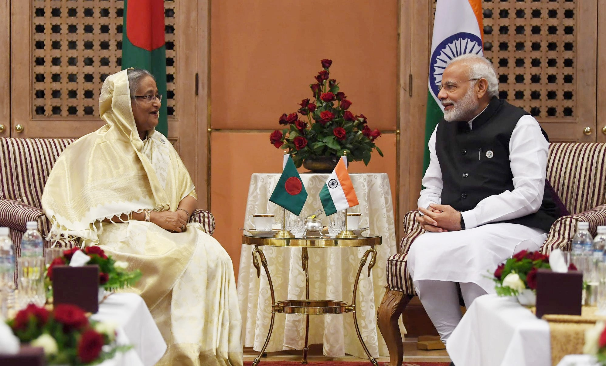 Sheikh Hasina and modi in 4th bimstec summit in kathmandu