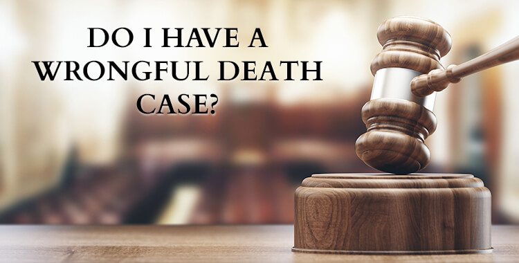 Do I Have a wrongful death case? Blurred out court room and gavel.