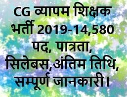 cg vayapam shikshak bharti