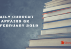 Daily Current affairs GK- 25 February 2019