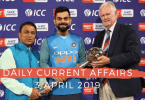 Daily Current Affairs GK Questions 3 April 2019