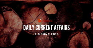 Daily Current Affairs GK Questions 5-8 June 2019