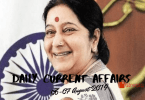 Daily Current Affairs Questions 06-07 August 2019