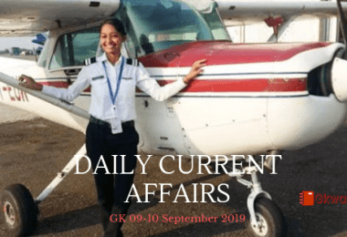 Daily Current Affairs GK 09-10 September 2019