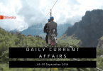 Daily Current Affairs Questions 01-05 September 2019