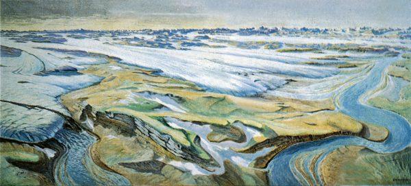 Reconstitution du retrait du glacier du Rhin © Musée Allerheiligen
