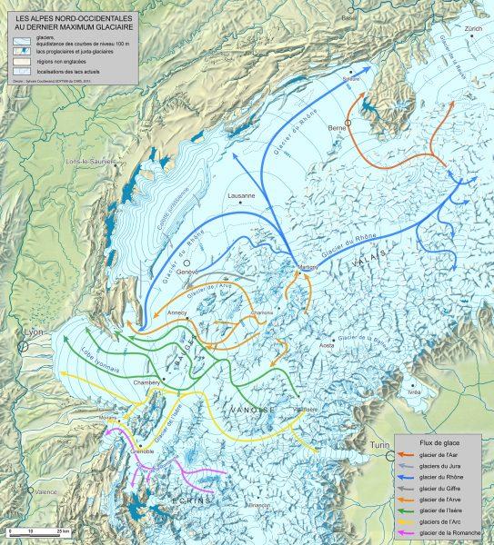 Carte des flux au dernier maximum glaciaire