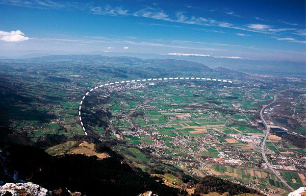 Arc morainique du stade des Rocailles (glacier de l'Arve)