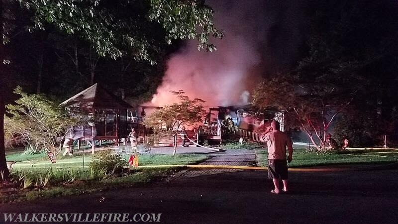Working House Fire in Mt  Airy • GladeValley net