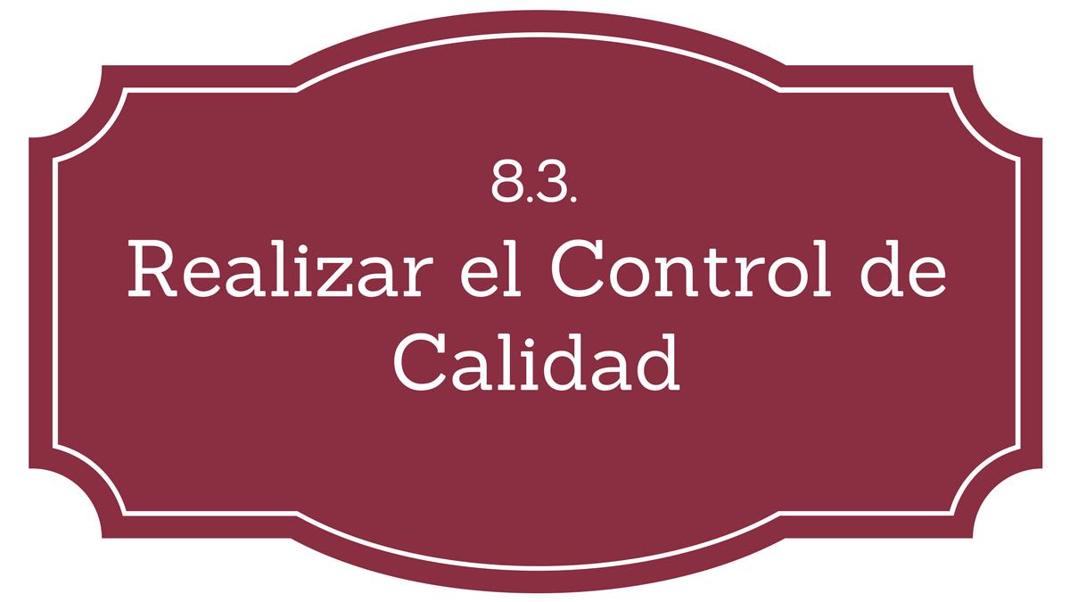 Control de Calidad PMBOK