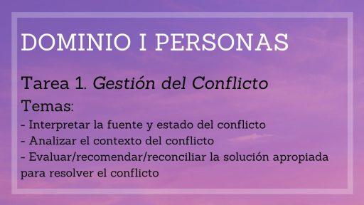 Ejemplo Dominio I Personas. PMBOK 7