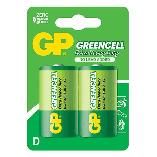 GP Greencell Carbon Zinc D-Size