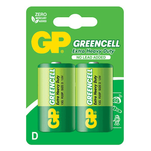 GP Greencell Carbon Zinc D-Size