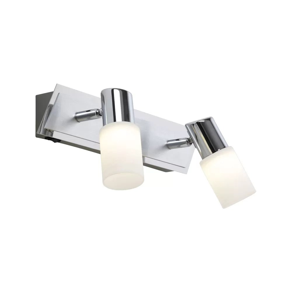 Clapton Two Light Frosted Glass LED Spotlight