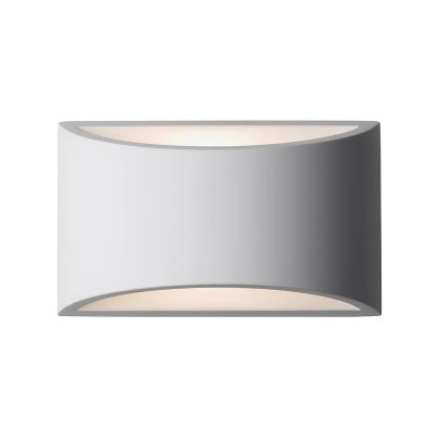 Gypsum Curved Up & Down Wall Light