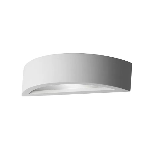 Gypsum Curved Wall Light with Glass Diffuser