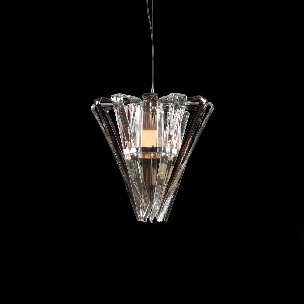 Basik Trappist Crystal Pendant Clear
