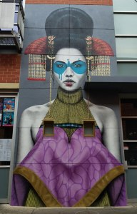 Artist unknown but the Rundle Street end of Vardon Avenue hides this amazing work of art.