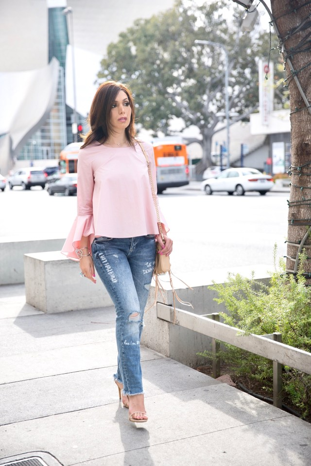 bell sleeve top for spring