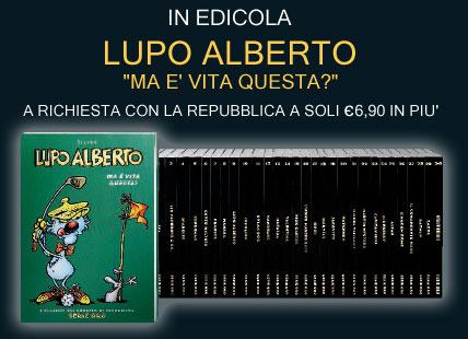La copertina di Lupo Alberto, in uscita il 19-11-2004