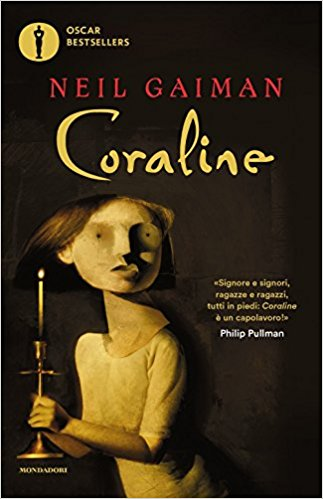 Copertina dell'edizione italiana del romanzo Coraline. ed. brossurata seconda ristampa, 2004