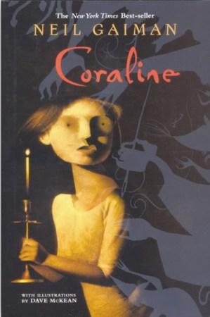 Copertina del romanzo Coraline. ed. paperback 2002