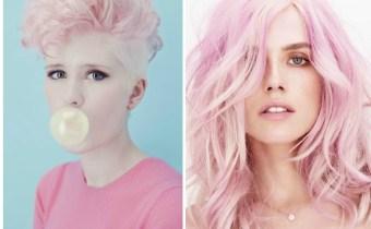 Essa tendência é mais lúdica e foca em ondas delicadas, texturas suaves e franjas mais longas. A cor principal é aquele rosa pastel com aspecto lavado.