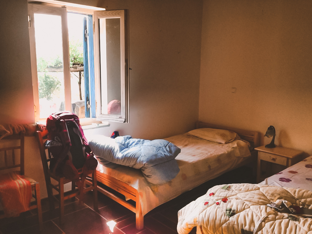 Cozy bedroom on the WWOOF farm