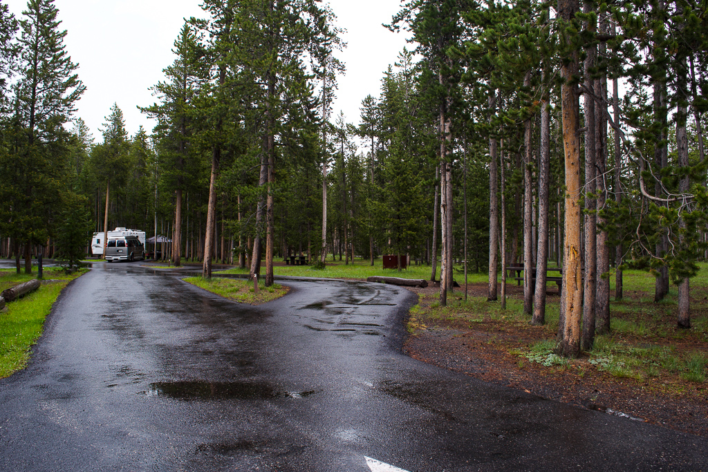 Madison campground Yellowstone