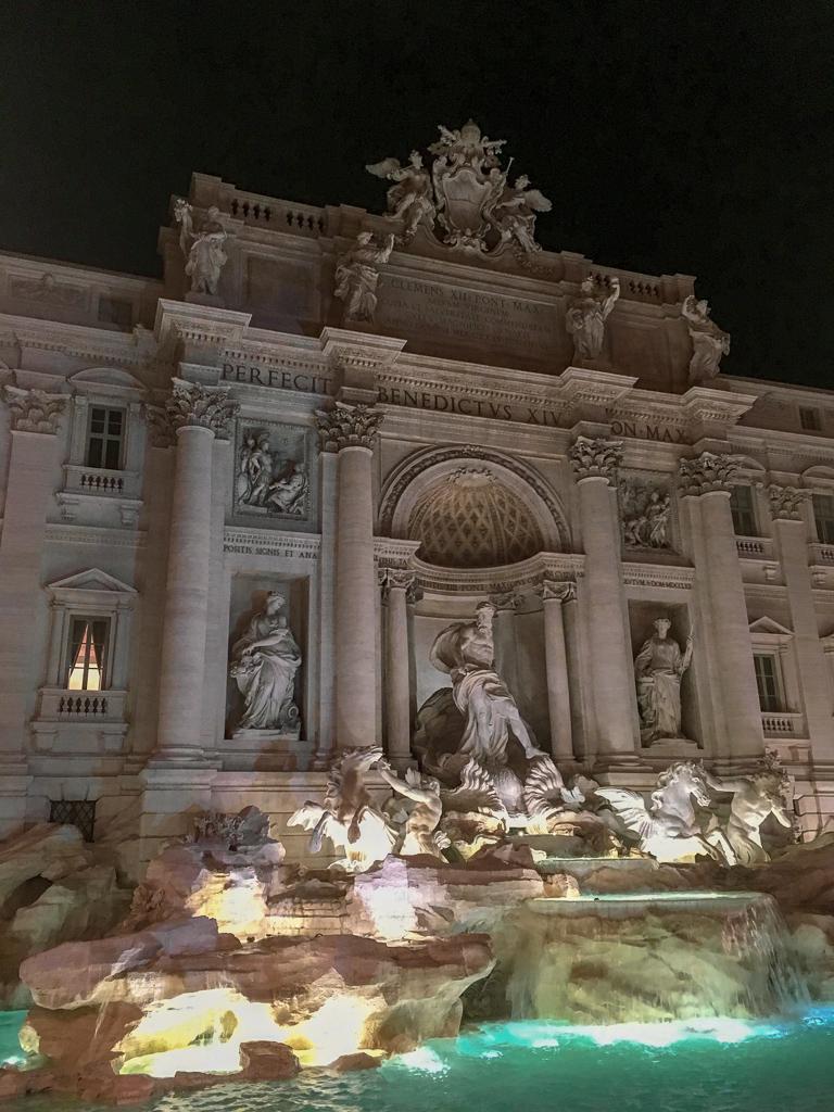 Trevi Fountain at night, Rome | 10 Day Italy Itinerary