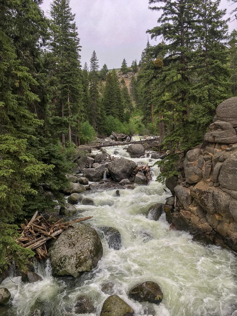 Waterfall at Tower Fall, Yellowstone National Park