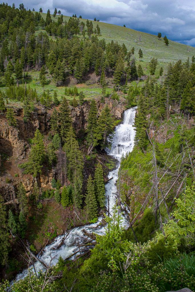 Undine Falls waterfall, Yellowstone National Park