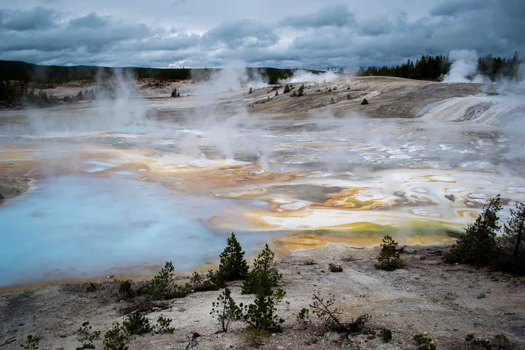 Norris Geyser Basic geothermal features in Yellowstone National Park