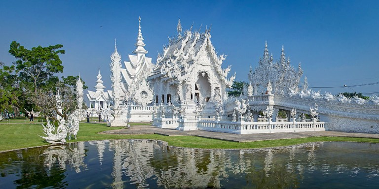 Wat Rong Khun, Chiang Mai, Thailand, also known as the white temple