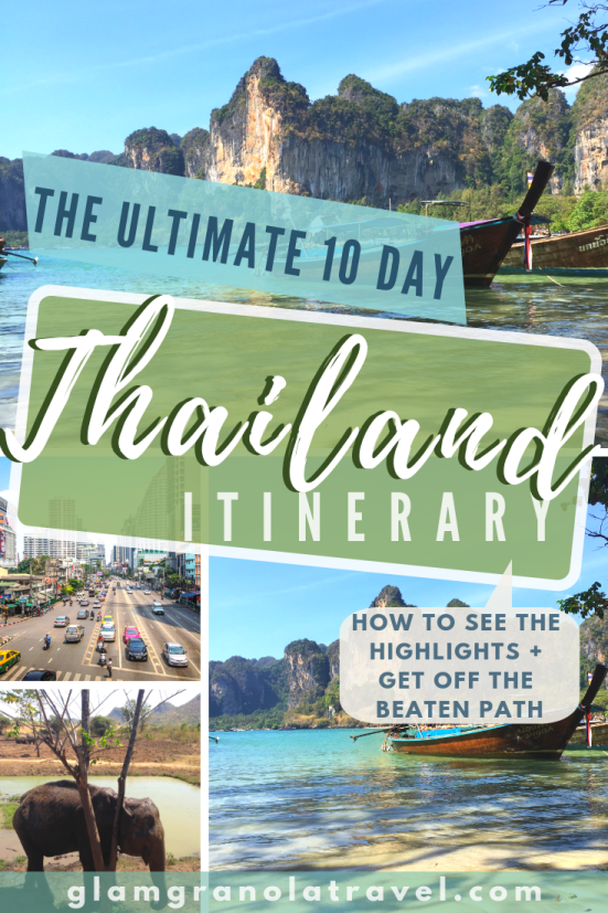 Deciding how to spend just 10 days in Thailand is tricky—it's a magical country full of diverse landscapes and people. This 10 day Thailand itinerary is here to help. It is perfect for solo travelers, couples, budget backpackers, pretty much anyone who wants to see Thailand's highlights without spending their whole time on the heaviest tourist trail. Let me inspire you to plan your perfect 10 day Thailand itinerary! #Thailand #Southeastasia #budgetbackpacking #wanderlust