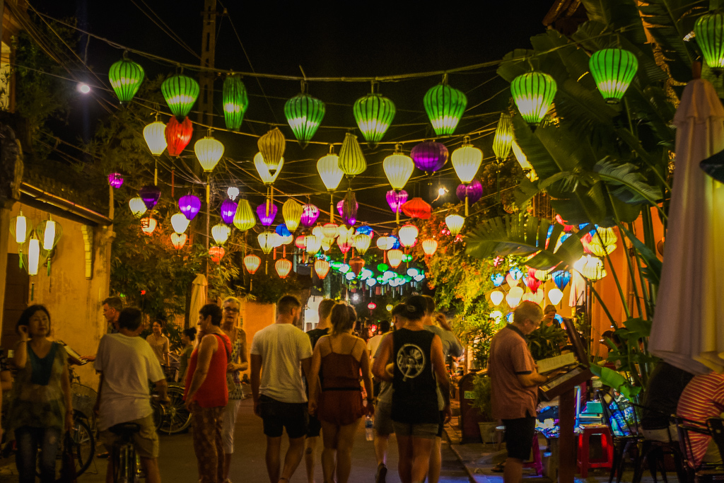 Lanterns lining the streets of Hoi An, Vietnam