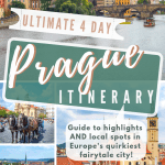 4 Days in Prague itinerary Pinterest Pin