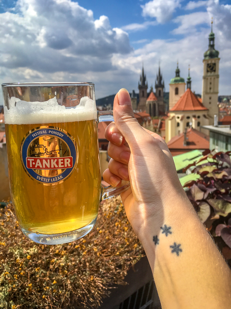 Beer at T-Anker Prague during your four days in Prague