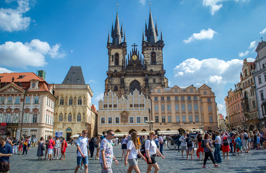 Church of Our Lady before Tyn in the Prague Old Town Square