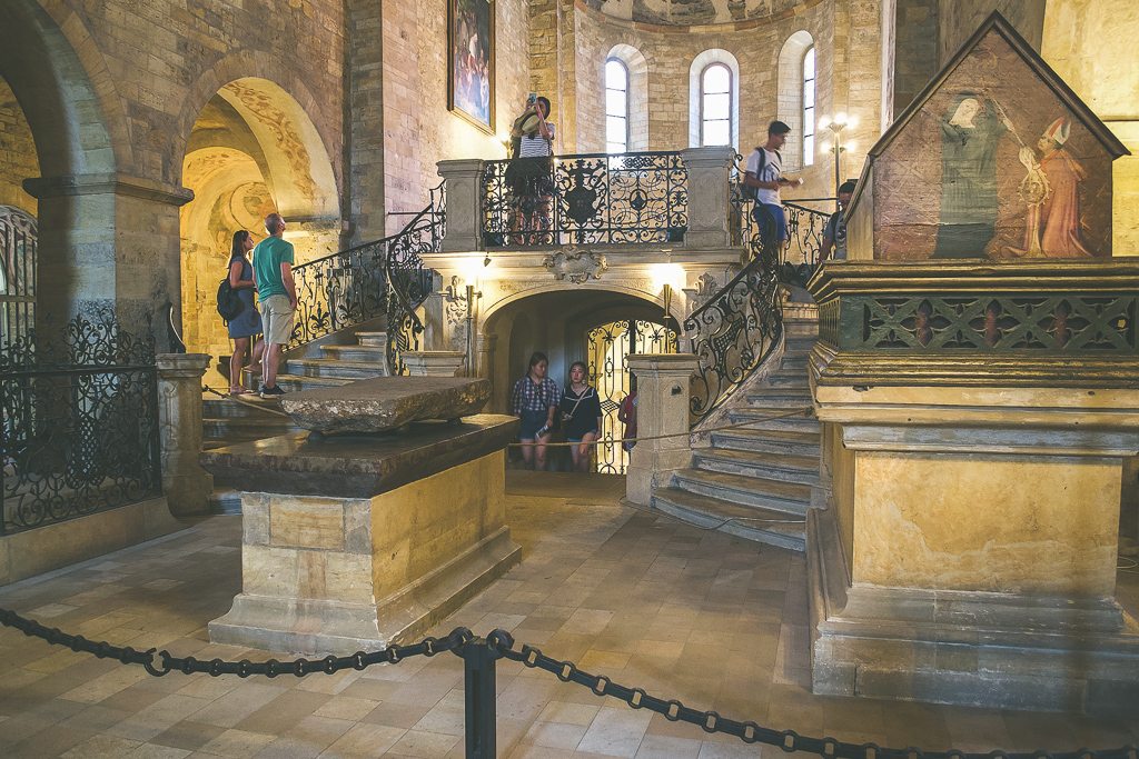 Inside St George's Basilica during four days in Prague